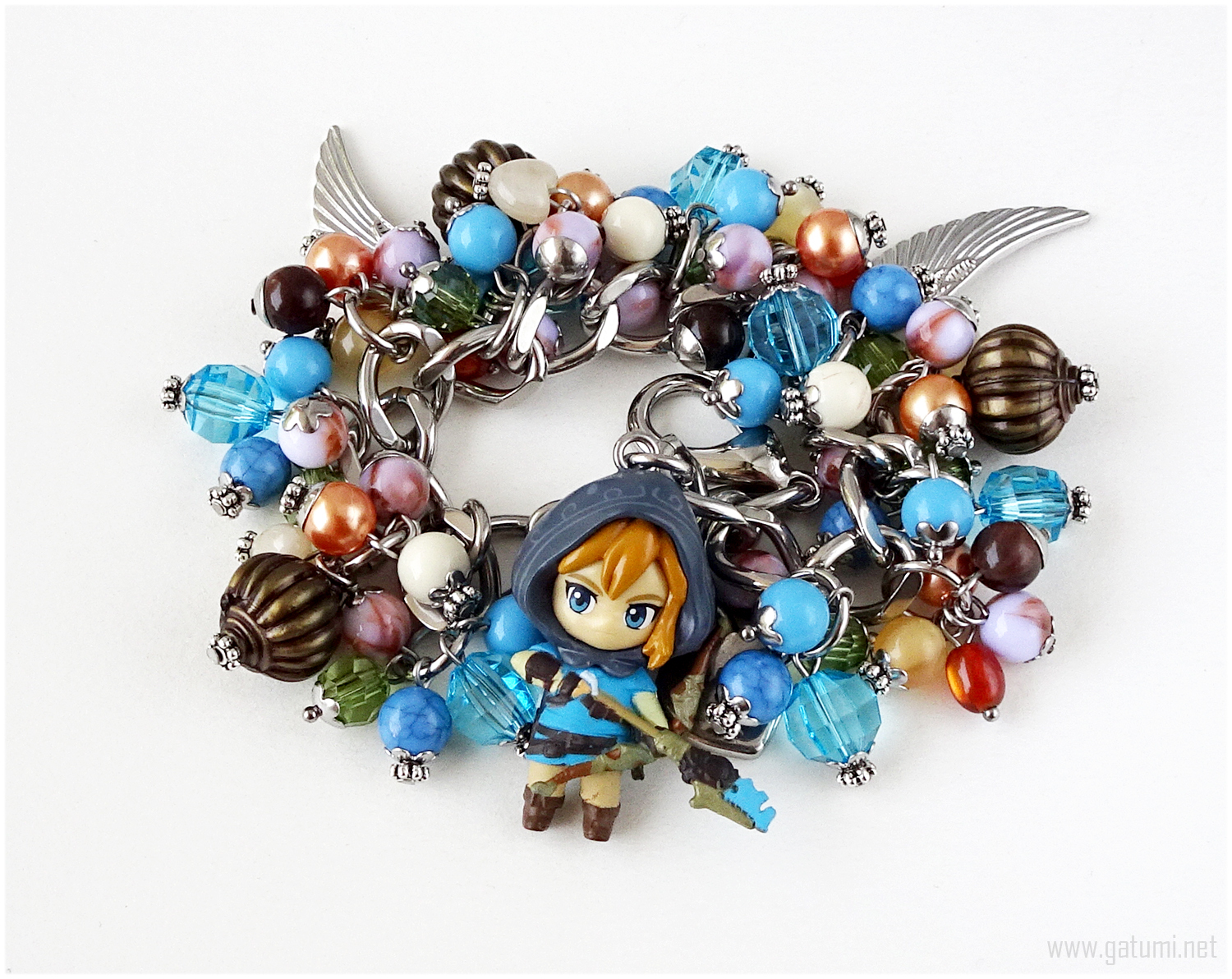 Primary image for Legend of Zelda Breath of the Wild Charm Bracelet, Steel Chain, Gamer Gifts