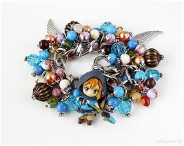 Legend of Zelda Breath of the Wild Charm Bracelet, Steel Chain, Gamer Gifts - $65.00