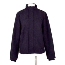 Gap Black Wool Bomber Jacket Commuter Field Coat Business Casual Mens Si... - $44.54