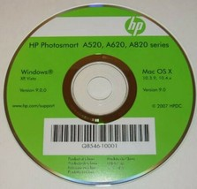 HP Photosmart A520, A620 , A820 Series Installation CD Q8546-10001 2007 ... - $6.88