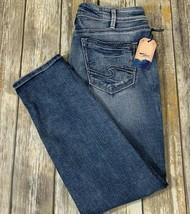 Silver Sam Indigo Jeans Western Glove Works Size 30 x 27 Factory Distres... - $69.29