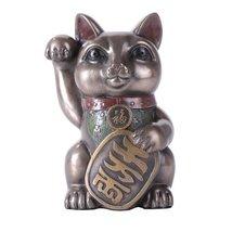 "Maneki Neko Cat 5"" Tall Collectible Resin Figurine - $19.79"