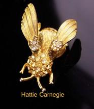 Hattie Carnegie Brooch / vintage Large Trembler / Insect Brooch / Vintag... - $50.00