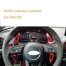 Aluminiu Driving wheel Shifter Shifting Paddles for Audi New 8V RS3 R8 2017 2018 - $47.41