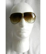 New Vintage Ford Motorcraft Folding Aviator Sunglasses Brown & Gold Leat... - $19.09