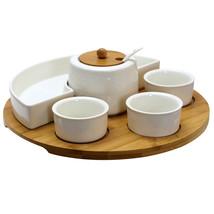 Elama Signature 8 Piece Appetizer Serving Set with 4 Serving Dishes, Cen... - $40.82
