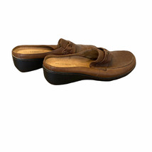 Easy Spirit Womens Brown Round Toe Slip On Leather Comfort Mules Shoes Size 7 - $22.77