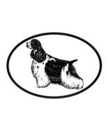 Dog Breed Oval Vinyl Car Decal Black & White Sticker - American Cocker S... - $4.00