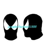 Unisex Spider Hood/Mask Black/White Lycra Spandex Spiderman Mask Hood Pi... - $18.99