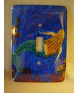 Mermaid Dance Switch plate covers single or double - $22.00