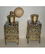 Refillable Empty Glass Perfume Bottles Vintage 1960's 1 admiser & 1 Cap ... - $9.90