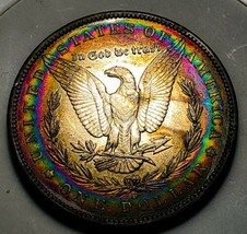 1896 O MORGAN SILVER DOLLAR ELCTRIC TONING / KEY DATE.  514 - $220.50