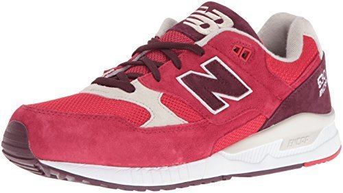 New Balance Men's M530 Classic Running Paper Lights Fashion Sneaker, Red/Chocola