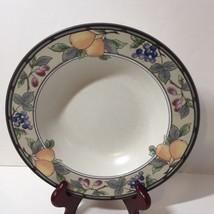 "Soup/Salad Bowl Mikasa Intaglio Garden Harvest 9.25""  Fruits Grapes Plums - $9.74"