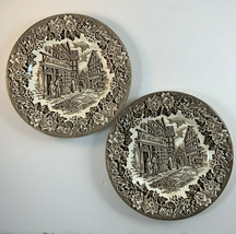 English Ironstone Dickens Series Brown Bread Butter Plates Wm Mellor Lot... - $19.75