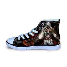 Assassin's Creed II High Top Vulcanize Canvas Sneakers Shoes - $47.99