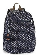 Kipling Clas Challenger Small Backpack LETTER PRINT Authentic Genuine NW... - $77.31
