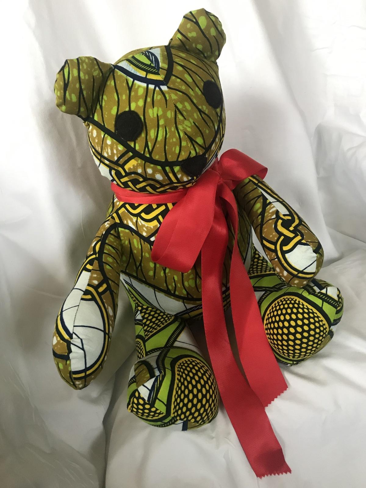 Teddy Bear in African Fabric