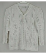 Christopher & Banks Petite Womens Pale Pink 3/4 Sleeve Sweater Size PS - $15.88