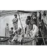 SLAVE MARKET in Ancient Rome Auction - 1888 Fine Antique Print - $25.20