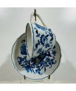 Blue Danube Blue Onion Pattern Cup & Saucer  Banner Mark Open Triangle H... - $9.86
