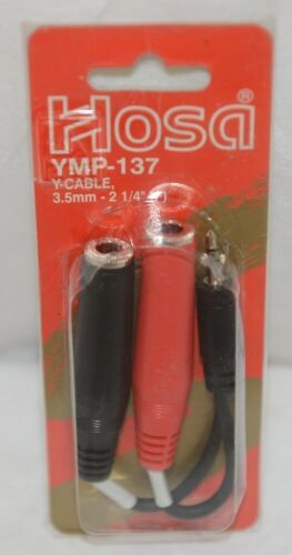 Hosa Technology YMP137 Y Cable Stereo Male To Two Mono Female