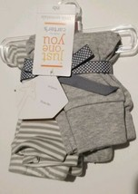 NWT New Baby Boys Girls Just One You by Carter's 2 Pack Pants White Gray NB - $11.63