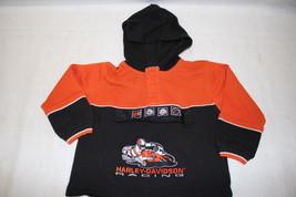 HARLEY-DAVIDSON Motor Cycles Youth Long Sleeve Shirt, Orange & Black, Sz 4T - $20.00