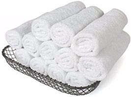 Small Towels Pack 100% Cotton White Washcloth Bath Sweat Face Gym Towel ... - $28.39