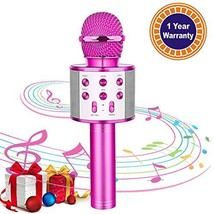 Kids Karaoke Microphone Wireless Bluetooth Mic Handheld Children Toy Mic... - $27.39