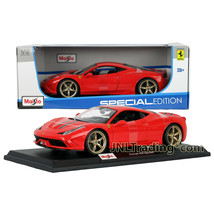 Maisto Special Edition 1:18 Scale Die Cast Car Red Ferrari 458 Speciale w/ Base - $49.99