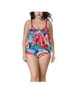 Women's Plus Size Ruffle Floral Printed Flounce One Piece Swimsuit XL-5XL - $25.99