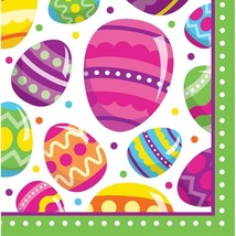 Easter Egg Fun 16 Ct Lunch Napkins Colorful Spring Party - $4.49