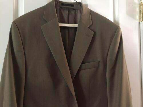 Ralph Lauren Mens 100% Wool Suit 44 Lord & Taylor Olive