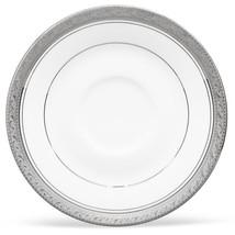 "Noritake Crestwood Platinum 6.25"" Saucers  Set of 4 Open Stock - $29.99"