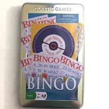 BINGO Cardinal Classic Portable Game Tin Travel Storage Full Size Never ... - $10.88