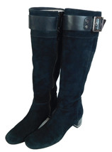 Tory Burch Black Leather Suede Knee High Riding Boots Womens Size 6.5M - $59.35