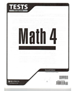 Student Tests for use with Math 4 for Christian Schools Second Edition B... - $10.00