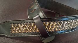 The 2 1/4 inch Natural Diamond Cross Guitar Strap - $169.00