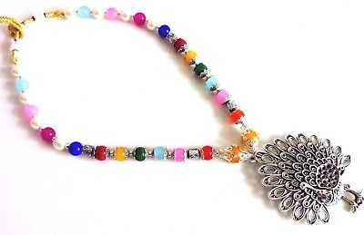 Indian Bollywood Oxidized Pearls Necklaces & Pendants Women's Fashion Jewelry