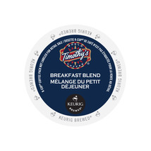 Timothy's Breakfast Blend Coffee, 48 count K cups, FREE SHIPPING  - $37.99