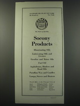 1930 Socony Petroleum Products Ad - Standard Oil Co. of New York - $14.99