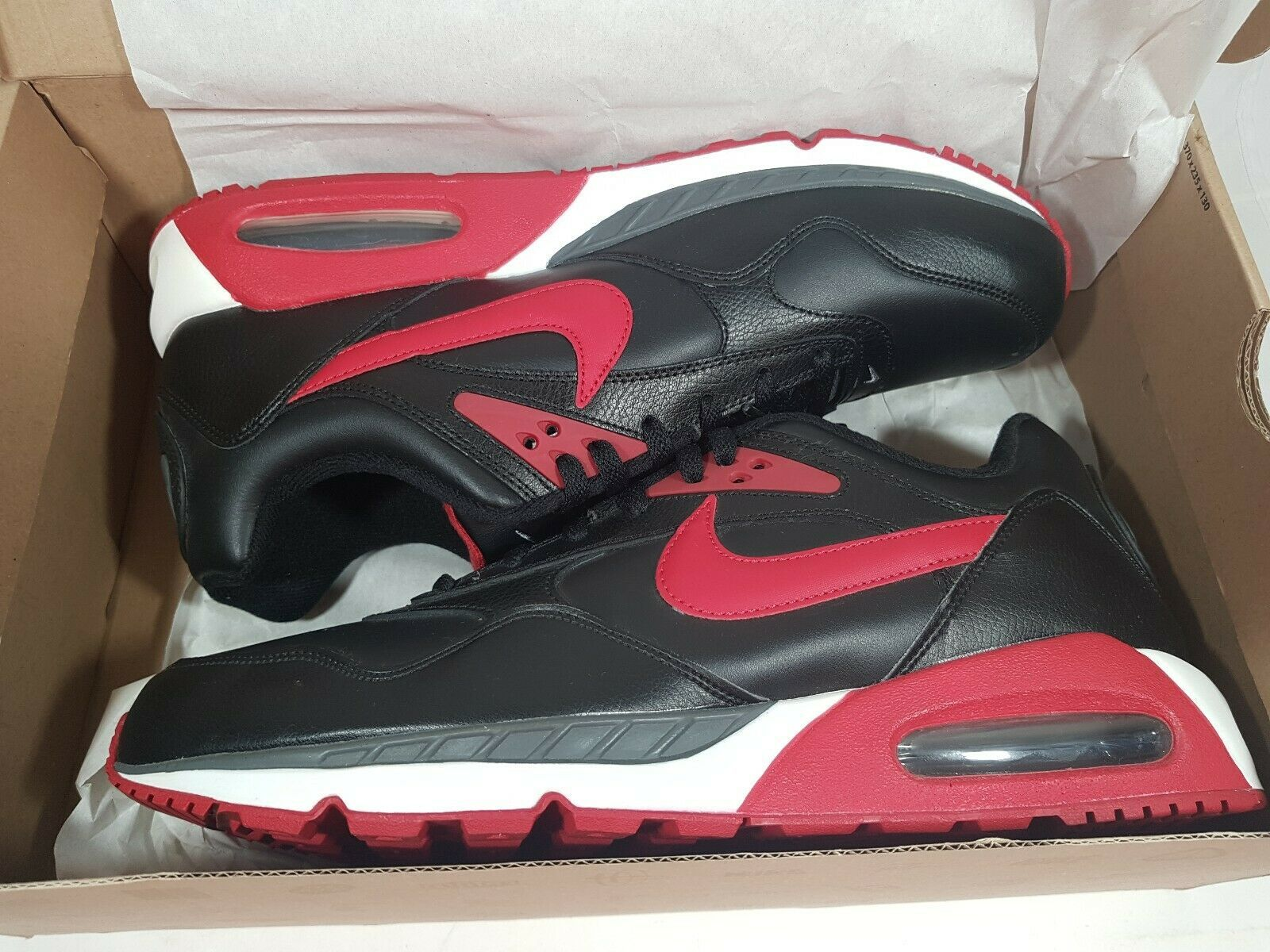 New Nike Air MAx Correlate Leather Running Black 518292 060 Mens Shoes 13 Rare image 11