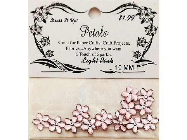Dress It Up Petals, Light Pink Flowers, 10mm #3810