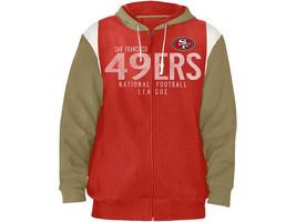 San Francisco 49ers Hoodie Men's NFL Coverage Full Zip Hooded Sweatshirt G-III
