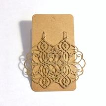 Gold Medallion Earrings, Filigree Medal Earrings, Metal Medallion Earrings