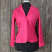 Talbots New Blouse 8 Petite 8P size Pink Winkle Resistant Womens Top Str... - $35.77