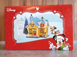 Dept 56 Mickey House Christmas Holiday Gift Set From 2016 Set of 4 Disne... - $167.38