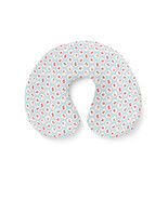 Shabby Chic Florals on Blue Travel Neck Pillow - $29.45 CAD+