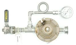 "CASHCO 1/2"" NPT D SS/G1/S1 20-40PSI PRESSURE REGULATOR ASSY W/ VALVE & GAUGE"